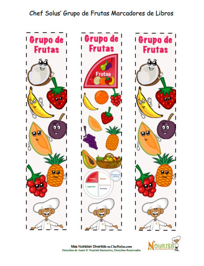 Colorear Marcadores de frutas  Energa para crecer