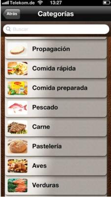 Aplicación alimentación sana para escolares