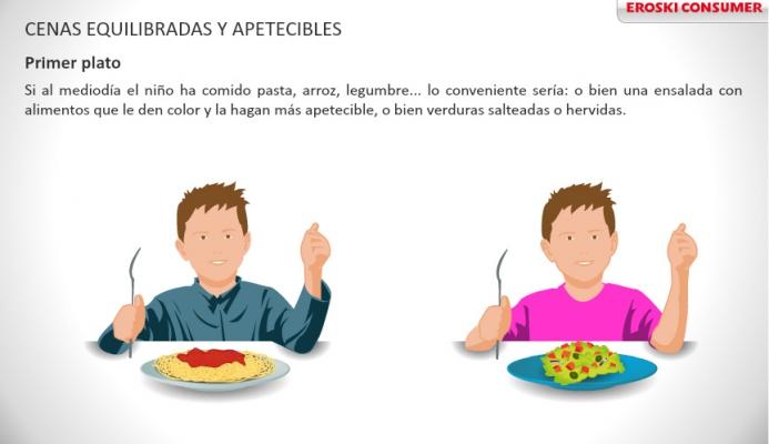 Infografía  Alimentos para niños