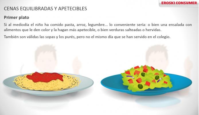 Alimentación sana de niños y niñas