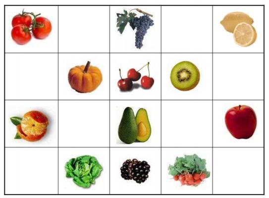 Juegos educativos alimentos