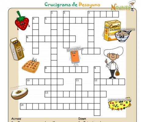 juegos Crucigrama del desayuno