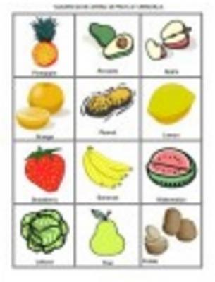 Lotería de frutas y verduras - Ficha2