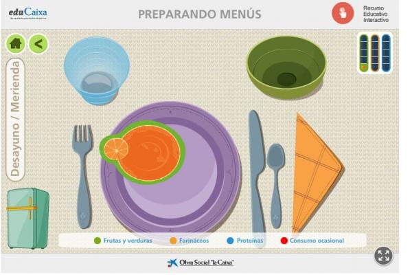 juegos educativos alimentación sana