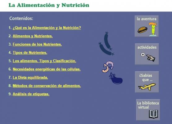 A alimentación e a nutrición