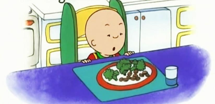 Caillou odia los vegetales