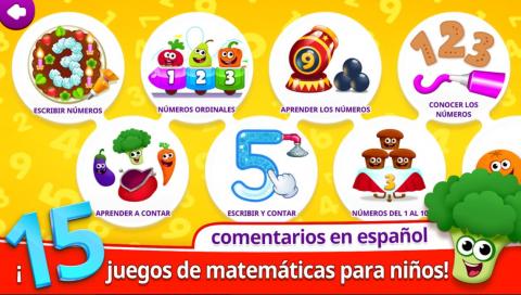 Funny Food 123! Bebes juegos educativos para niños