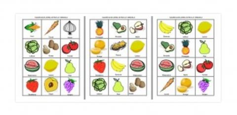 Lotería de frutas y verduras