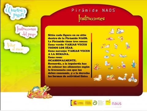 juegos online alimentación Pirámide NAOS