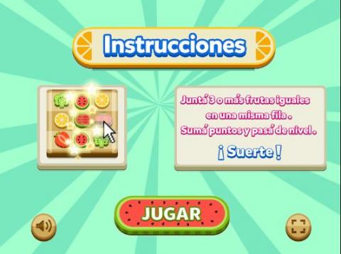 Juego interactivo Nuestras frutas y verduras