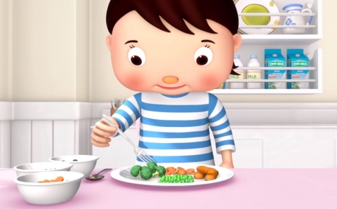 Come más verduras LittleBabyBum
