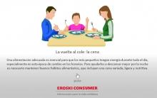 Infografía La vuelta al cole: cenas para niños