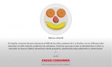 Infografía Alimentos Menú infantil